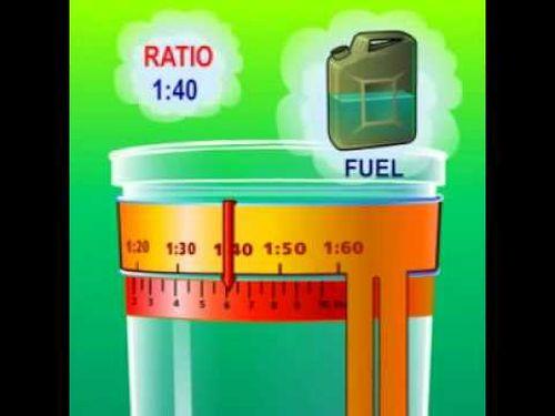 Соотношение бензина и масла